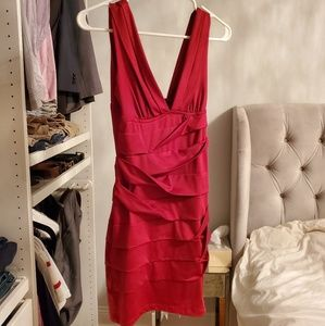 Forever 21 red bandage bodycon minidress